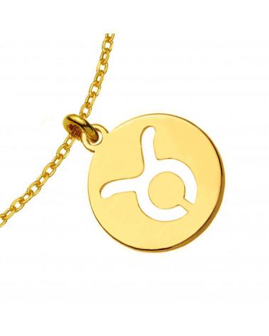 Złote kolczyki z rozetką i granatową perłą SWAROVSKI® CRYSTAL