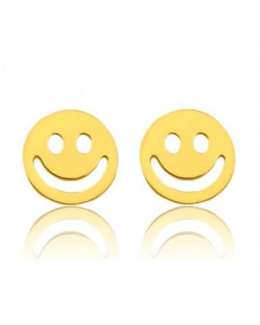 Złote kolczyki z uśmiechem