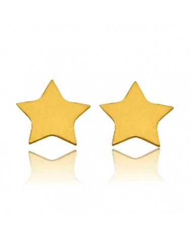 Złote kolczyki gwiazdki