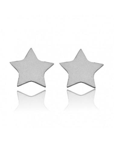 Srebrne kolczyki gwiazdki