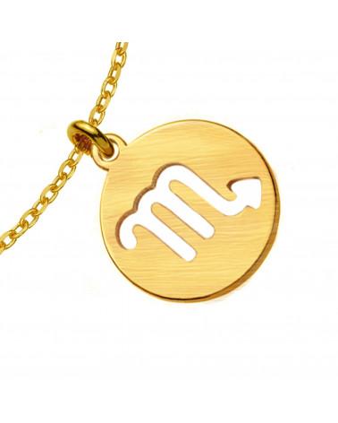 Złoty naszyjnik z misiem