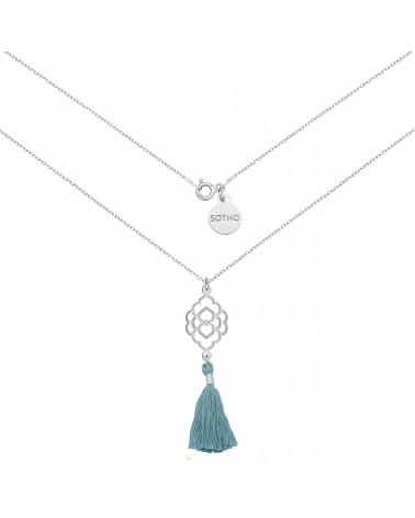 Perłowa bransoletka z opalizujących pereł SWAROVSKI® CRYSTAL ze srebrną rozetką