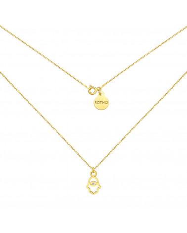 Zielona bransoletka z pereł SWAROVSKI® CRYSTAL ze złotym chłopięcym bucikiem