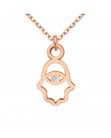 Złota bransoletka z flamingiem