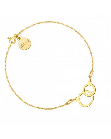Bransoletka z pierścionkiem z różowego złota