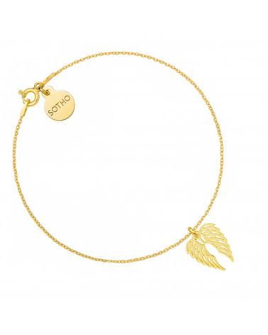 Złota bransoletka ze skrzydełkami