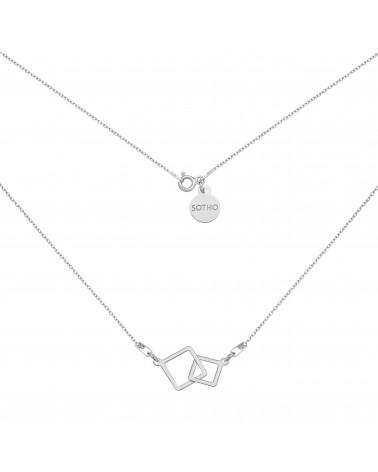 Srebrna bransoletka z rozetkami i kryształami SWAROVSKI® CRYSTAL