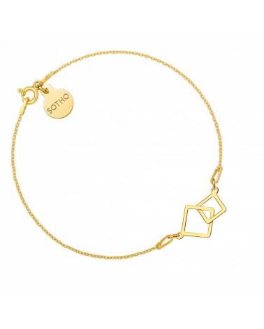 Kolczyki z rozetkami i kryształami SWAROVSKI® CRYSTAL z różowego złota