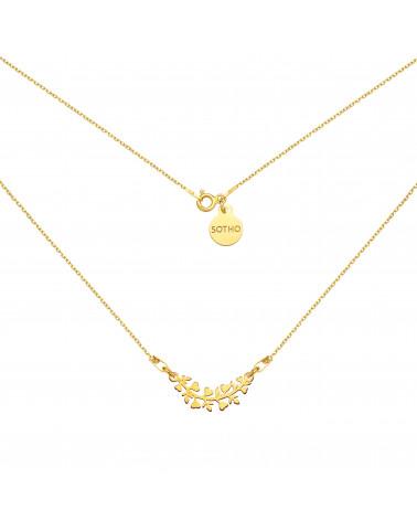Złoty naszyjnik z gałązką
