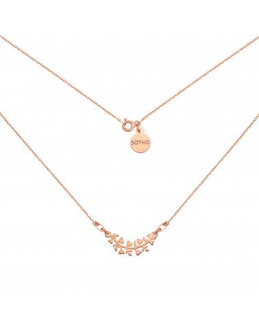 Naszyjnik z gałązką z różowego złota