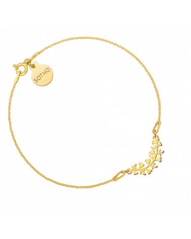 Złota bransoletka z gałązką