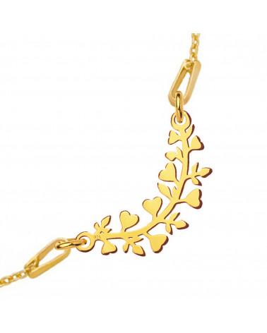 Srebrny naszyjnik z joginką w pozycji kwiatu lotosu