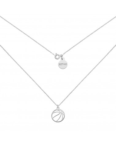 Srebrny naszyjnik z piłką do koszykówki
