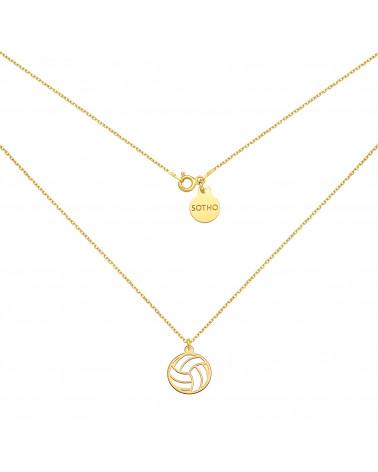 Złoty naszyjnik zdobiony opalizującym skarabeuszem SWAROVSKI® CRYSTAL