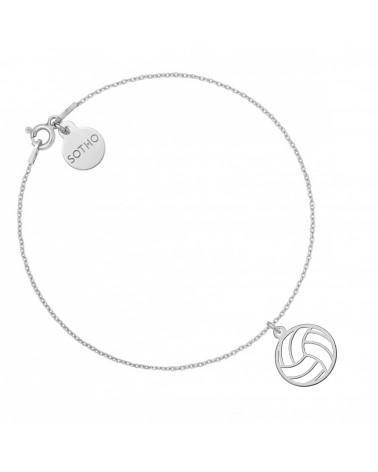 Srebrna bransoletka z piłką do siatkówki