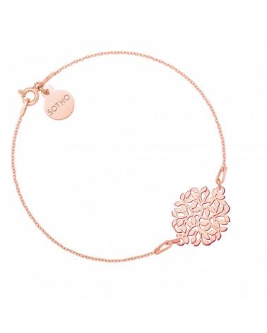 Bransoletka z rozetą z gałązek z różowego złota