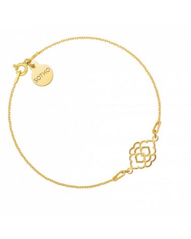 Naszyjnik z hantlą z różowego złota