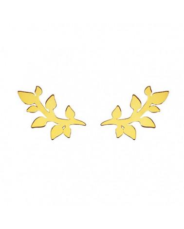 Złote kolczyki gałązki