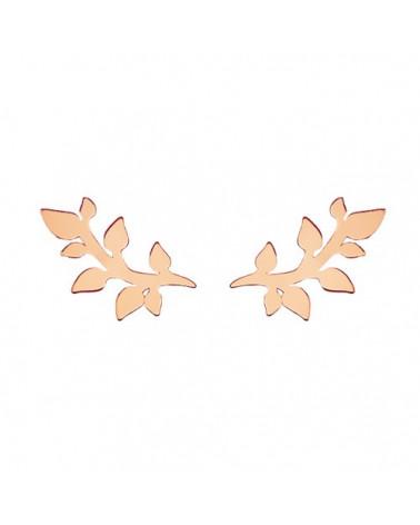 Kolczyki gałązki z różowego złota
