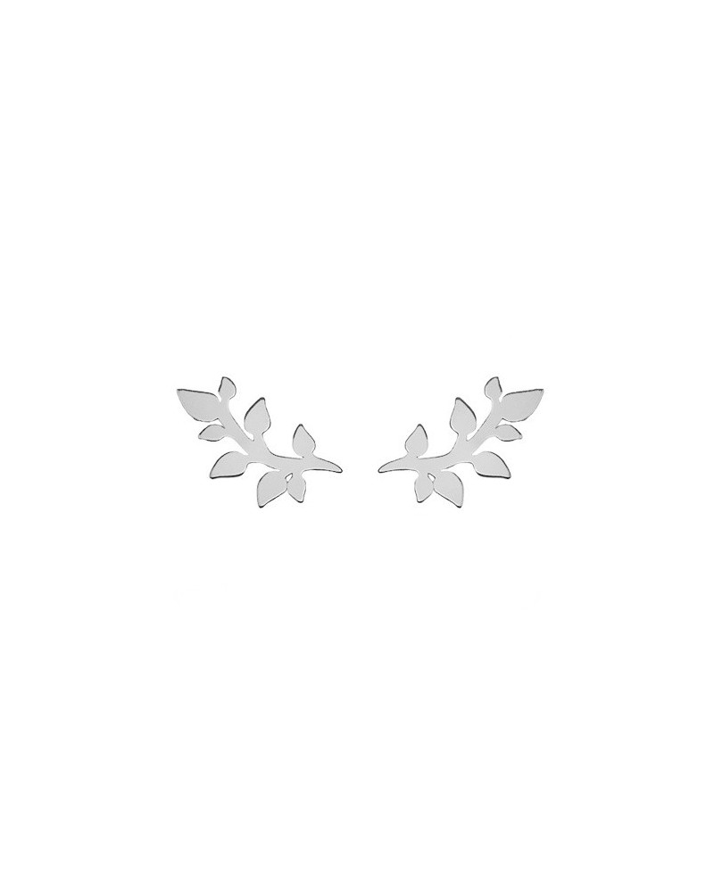 Srebrne kolczyki gałązki