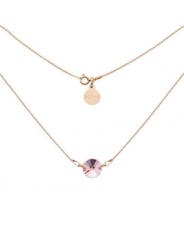 Naszyjnik z różowego złota z różowym kryształem SWAROVSKI® ELEMENTS