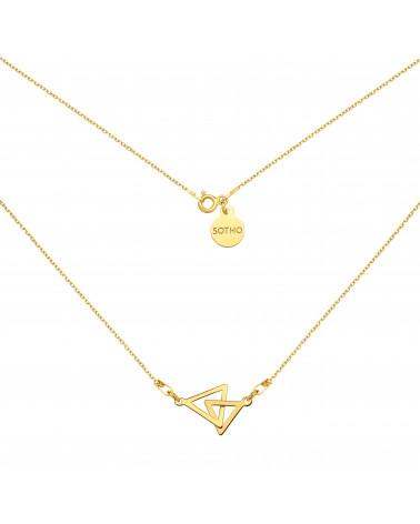 Złoty naszyjnik z dwoma trójkątami