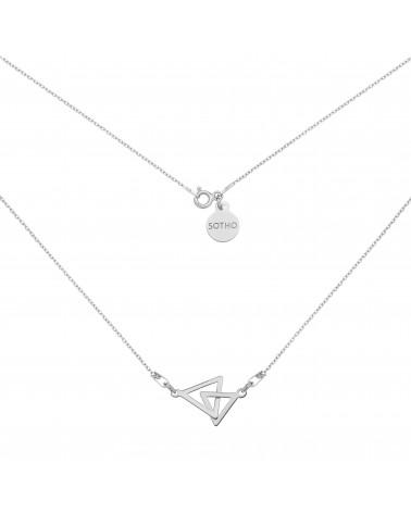 Srebrny naszyjnik z dwoma trójkątami