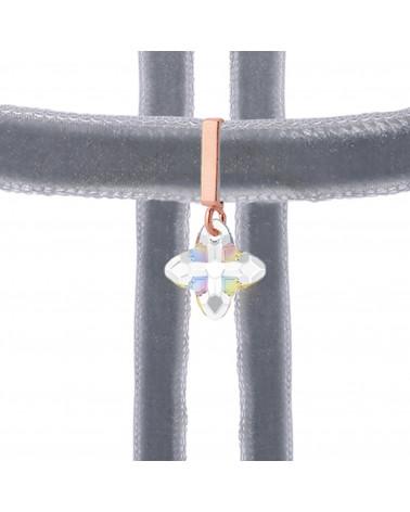 Srebrny matowy naszyjnik z konstelacją Barana