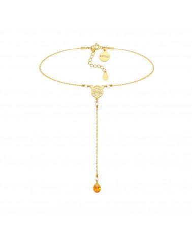 Naszyjnik z matowego różowego złota z konstelacją Byka
