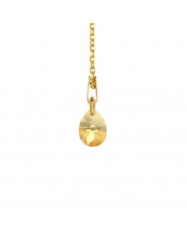 Złoty matowy naszyjnik z konstelacją Raka