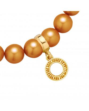 Złoty matowy naszyjnik z konstelacją Wagi