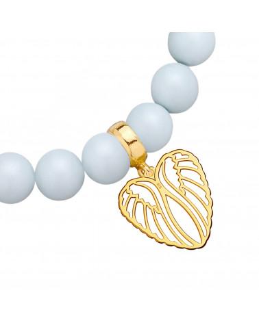Złoty matowy naszyjnik z konstelacją Koziorożca