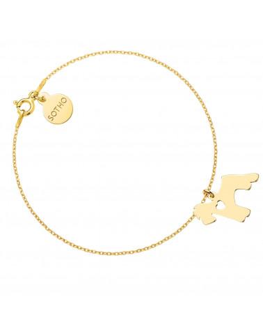 Złota bransoletka z psem rasy sznaucer