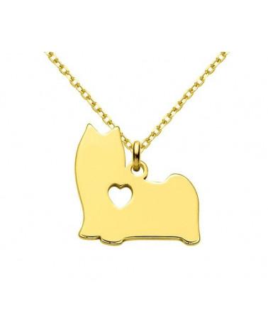 Złota matowa bransoletka z konstelacją Bliźniąt