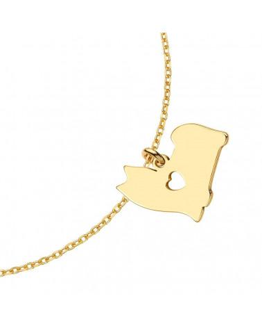 Złota matowa bransoletka z konstelacją Raka