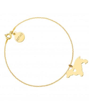 Złota bransoletka z psem rasy cocker spaniel