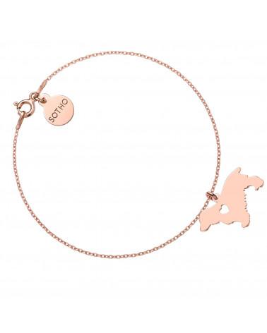 Bransoletka z różowego złota z psem rasy cocker spaniel