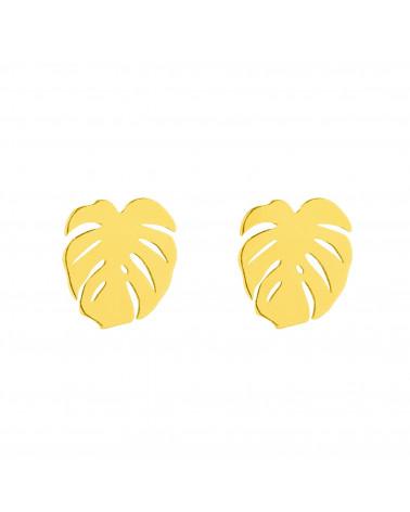 Złote kolczyki monstery