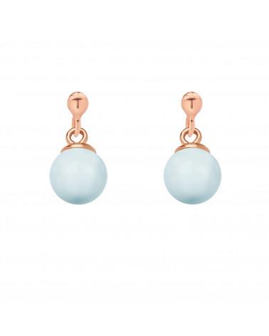 Srebrny naszyjnik z muszelką i perłą SWAROVSKI® CRYSTAL w kolorze Deep Brown
