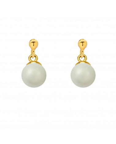 Złoty naszyjnik z muszelką i perłą SWAROVSKI® CRYSTAL w kolorze Pastel Rose
