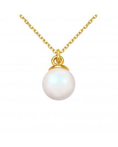 Srebrny naszyjnik z muszelką i perłą SWAROVSKI® CRYSTAL w kolorze Pastel Rose