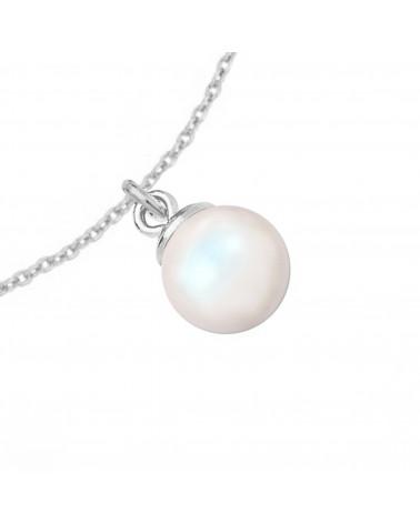 Naszyjnik z różowego złota z muszelką i perłą SWAROVSKI® CRYSTAL w kolorze Peach