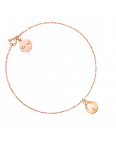 Bransoletka z różowego złota z łososiową perłą SWAROVSKI® CRYSTAL