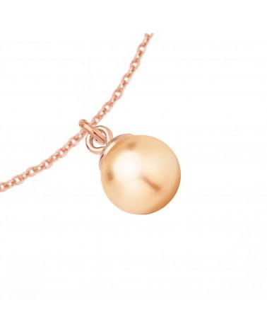 Naszyjnik z różowego złota z muszelką i perłą SWAROVSKI® CRYSTAL w kolorze Pastel Grey