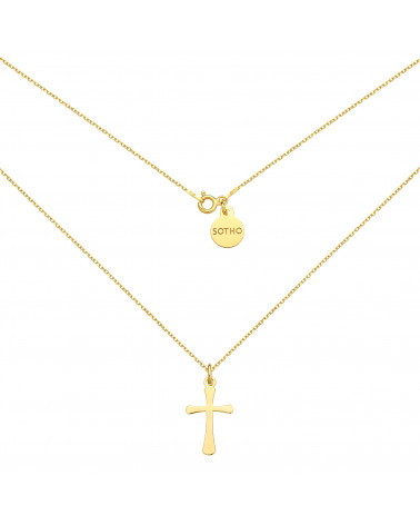 Złoty naszyjnik z krzyżykiem