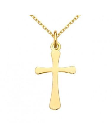 Złoty naszyjnik z muszelką i perłą SWAROVSKI® CRYSTAL w kolorze Tahitian-look