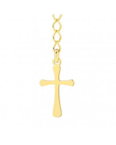 Złoty naszyjnik z muszelką i perłą SWAROVSKI® CRYSTAL w kolorze White Pearl