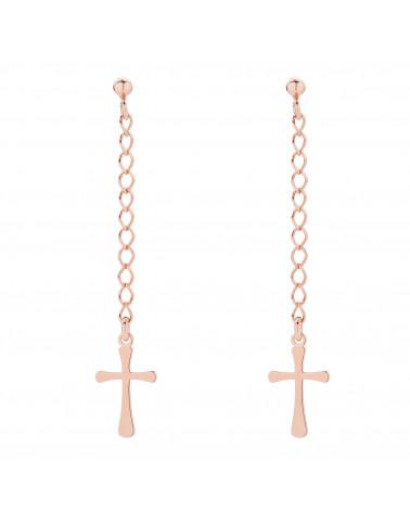 Naszyjnik z różowego złota z muszelką i perłą SWAROVSKI® CRYSTAL w kolorze White Pearl