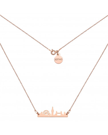Naszyjnik z różowego złota Londyn