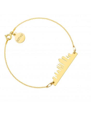 Bransoletka z pereł SWAROVSKI® CRYSTAL w kolorze Pastel Yellow ze złotą muszelką